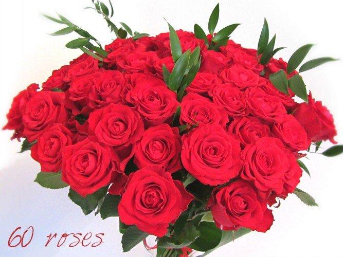 bukiet z czerwonych róż na 60 lat Czestochowa i okolice