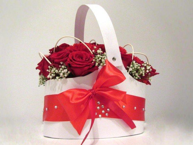 Flowerbox kosz z żywymi kwiatami FloriArt ul złota 223