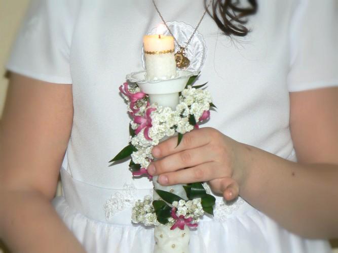dekorowanie świec do Pierwszej Komunii Częstochowa i okolice