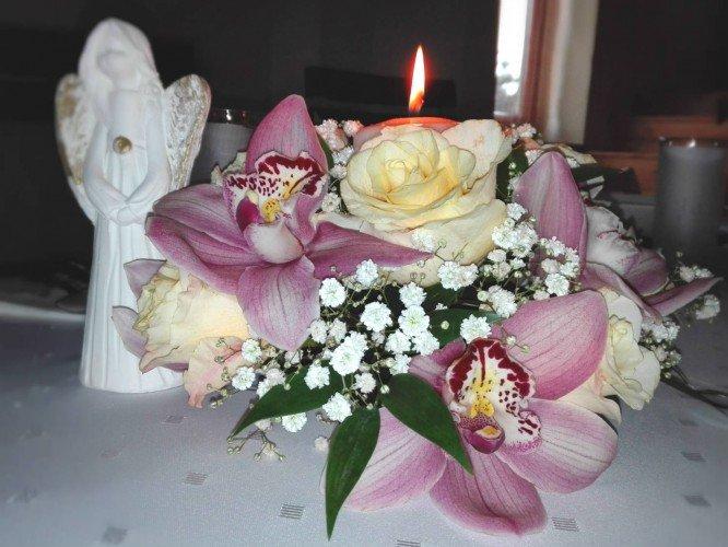dekoracje na stoły Pierwsza Komunia Święta Lelów Janów