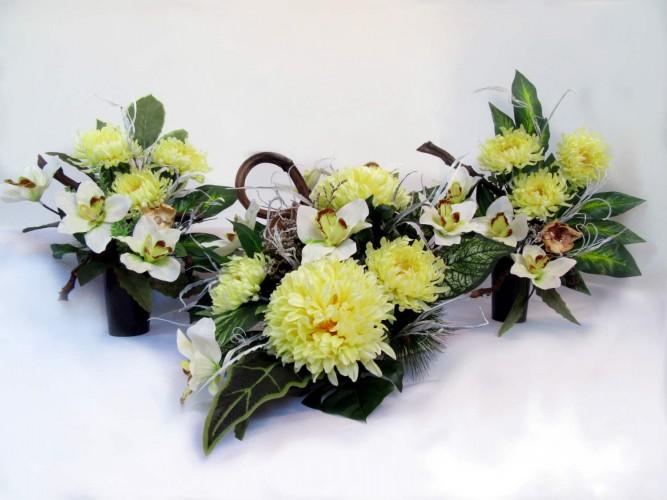 komplet na grób dwa wazony i kompozycja