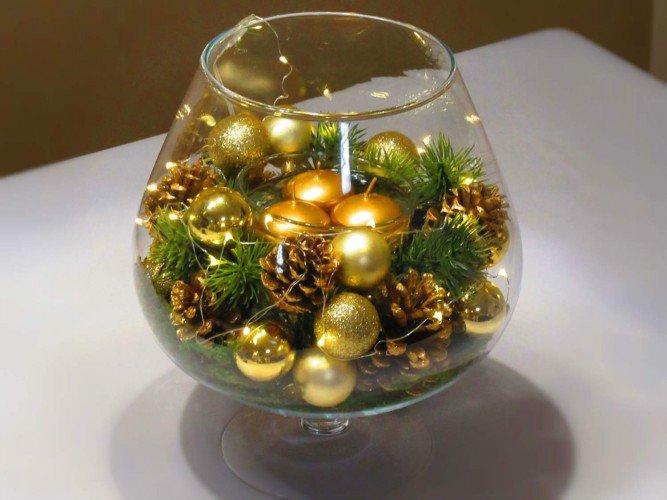 stroik złote bombki świece pływające Częstochowa