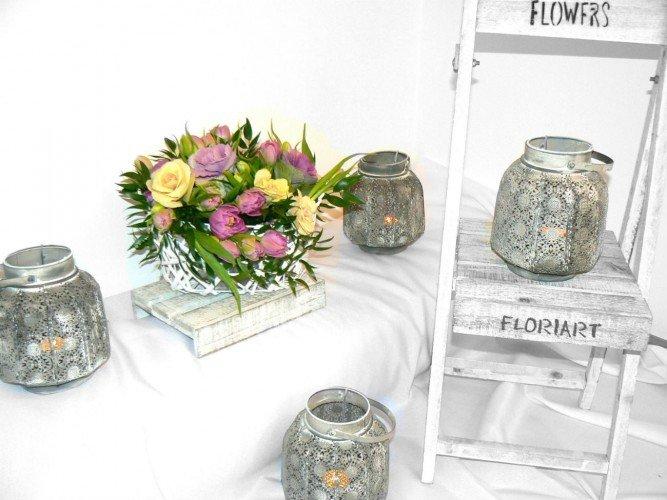 Flowerbox kosz kwiatowy prezent na urodziny