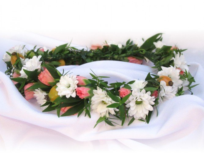 Wianek z żywych kwiatów Czestochowa