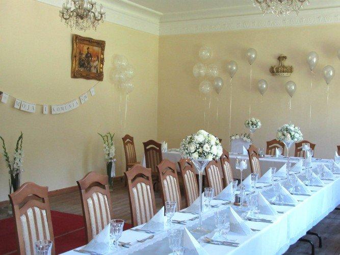 dekoaracje sal na komunię świętą FloriArt