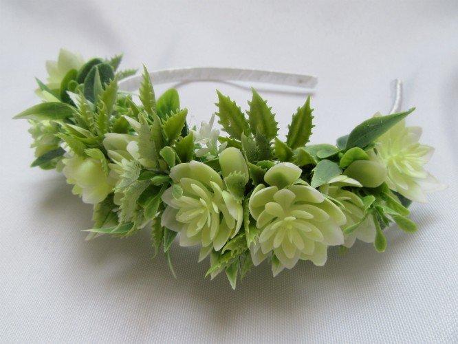opaska ze sztucznych kwiatów Częstochowa