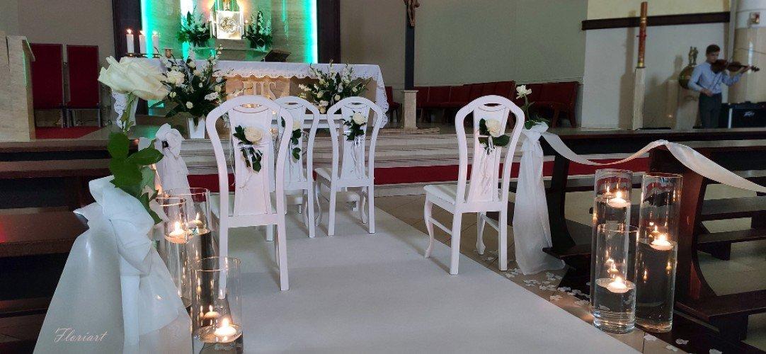 krzesła i klęcznik na ślub Częstochowa
