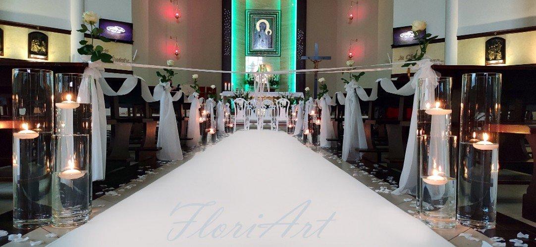 biały dywan na ślub Częstochowa